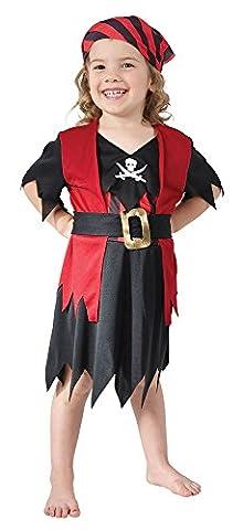 Piraten-Mädchen - Kinder-Kostüm - Kleinkind - 90 bis 104cm (Piraten Ideen Kostüme)