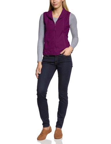 James & Nicholson Damen Girly Microfleece Vest Weste, rot Purple), 36 (Herstellergröße: M) - Damen Microfleece-weste