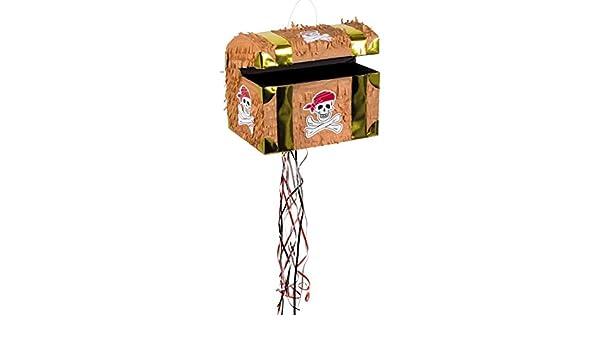 Schatz Truhe zum Ziehen Zugpinjata Schatztruhe Piñata Kindergeburtstag Pinata