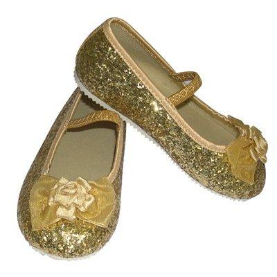 Travis Gold Glitter Party Schuhe