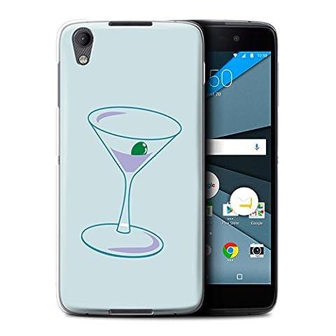 Coque de Stuff4 / Coque pour BlackBerry Neon/DTEK50 / Verre Martini/Alcool Design / Mode Sarcelle Collection