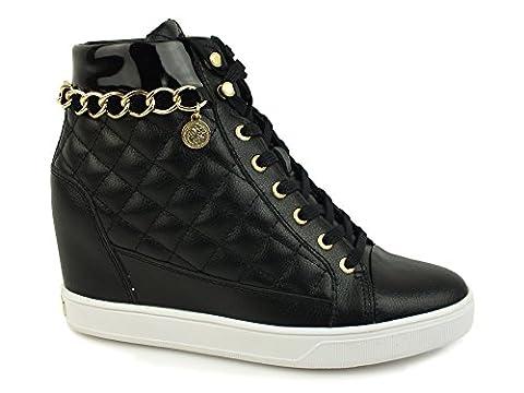 Chaussures Femme Guess - Guess Flfur3lea12, Bottes Classiques Femme, Noir (Nero),