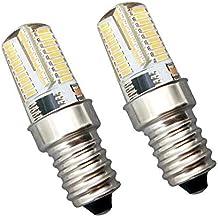 2 Pieza 4W Bombilla LED E14 KingYH LED ESE E14 Edison Frigorífico Bombilla Luz Blanca 6000K