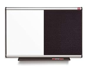 nobo qbp9060 prestige tableau d 39 affichage mixte surface magn tique et mousse 900x600 mm noir. Black Bedroom Furniture Sets. Home Design Ideas
