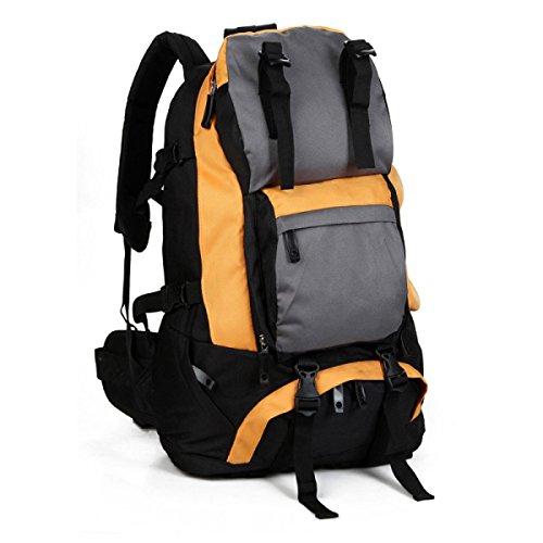 Outdoor Rucksack Oxford Schulter Tasche Bergsteigen Reisen Rucksack 40L Orange