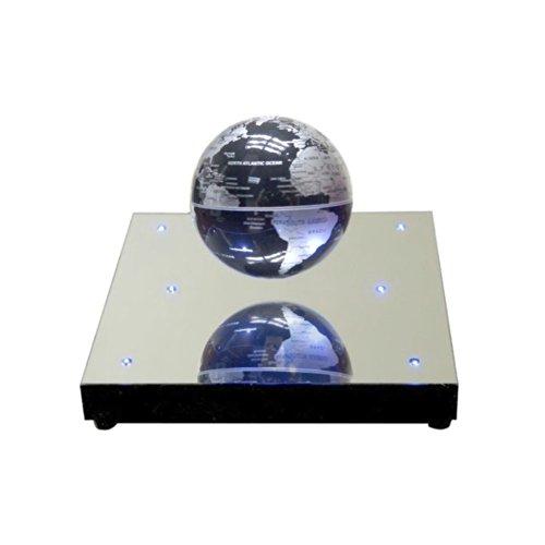 DPWELL Elektro-magnetisch frei-schwebender Globus,Magic Floater Fantastische Globus Weltkarte Neuheit Geschenk Weiß LED Beleuchtung Home Office Dekoration