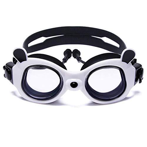 WMZX Kid Schwimmbrille Umweltfreundliche Silikon Anti-Fog UVA-Schutz Nicht undicht for Kinder von 5 bis 14 Jahren, geeignet for Jungen und Mädchen (Color : Black)