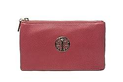 Long & Son Women's Small Clutch, Wristlet, Shoulder,Cross-Body Bags (Rose)