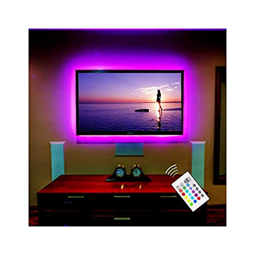 "BASON USB Powered LED TV Backlighting LED mood light for 42"" - 50"" Flat Screen TV / Monitor - 16 Dimmable colors, 4 dynamic modes LED Decor Strip Light"