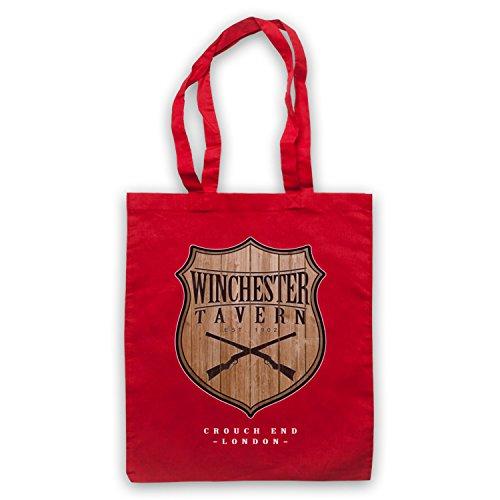 Inspiriert durch Shaun Of The Dead Winchester Tavern Inoffiziell Umhangetaschen Rot