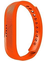 aresh Fitbit Flex 2banda de recambio, suave silicona accesorios muñeca banda para Fitbit Flex 2., color naranja