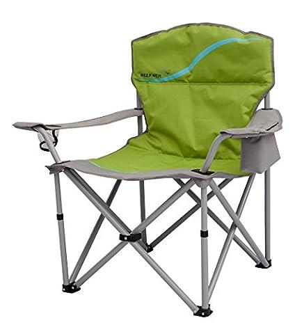 Meerweh Erwachsene Faltstuhl mit Getränkehalter und Kühlfach Relaxstuhl Anglerstuhl Campingstuhl, Gr&Uumln, XXL