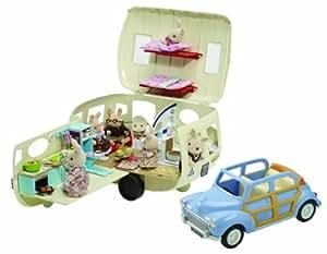 Sylvanian Families: Caravan and Blue Family Car