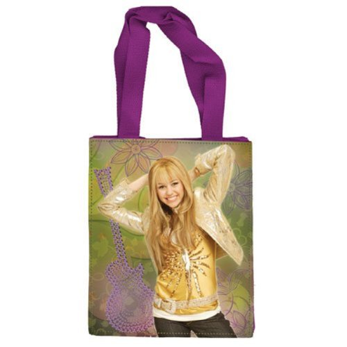 Hannah Montana Shopping Bag Grün-Lila 25 x 20 x 10 cm