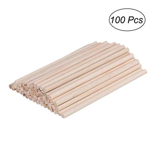 k 100 stücke Holz Runde Dübel Rod Stick Holzbearbeitung DIY Gebäude Modell Werkzeuge & Heimwerker ()