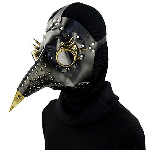 Kostüm Urheberrecht - Feder Brillen Pest Doktor Maske, Halloween Steampunk Pest Maske, Lange Nase Cosplay Kostüm Requisiten, Erwachsene und Kinder