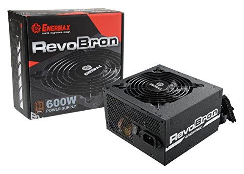 Enermax RevoBron ERB600AWT Alimentatore PC ATX 600w, 80 Plus Bronze, Semi Modulare Nero