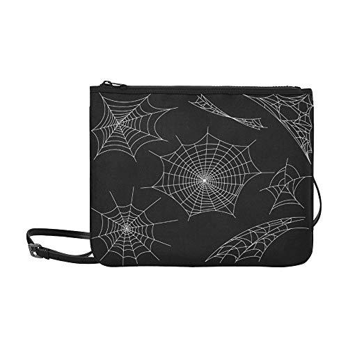 SHAOKAO Schwarze Spinnen und zerbrochene Bahnen Muster Benutzerdefinierte hochwertige Nylon-dünne Clutch-Tasche Umhängetasche mit Umhängetasche