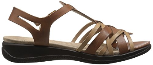 Softwalk Taft étroit Cuir Sandales Gladiateur Natural-Tan