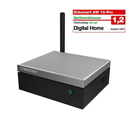 "Orbsmart AW-10 Pro 4K Mini-PC Windows 10 Pro Desktop PC/Computer lüfterlos (Intel Gemini Lake J4105 CPU, 4GB DDR4-RAM, 64GB int. Speicher, 2.5"" Festplattenschacht, HDMI 2.0)"