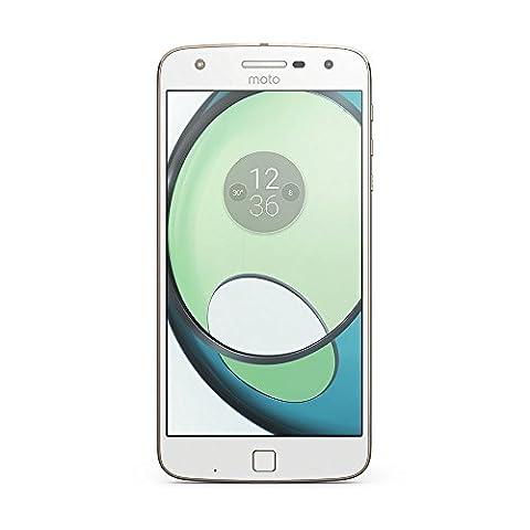 Motorola Moto Z Play Smartphone (14 cm (5,5 Zoll), 32 GB, Android) Weiß/Fine Gold