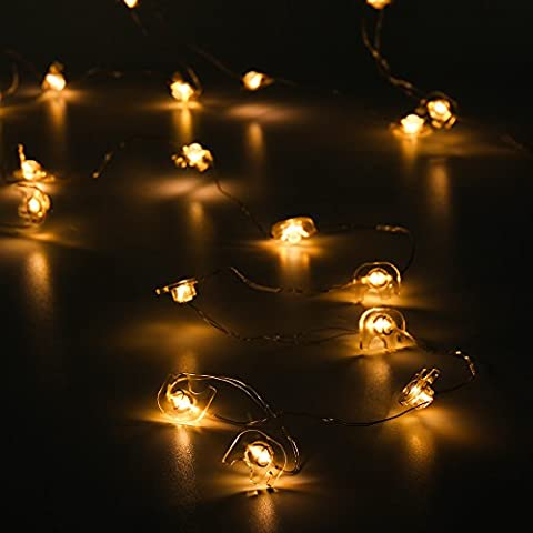ELINKUME 20 LED Elefant Lichterkette Ball Fairy Light String