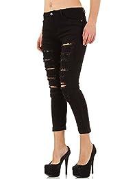 Destroyed Spitzen Skinny Jeans Für Damen bei Ital-Design