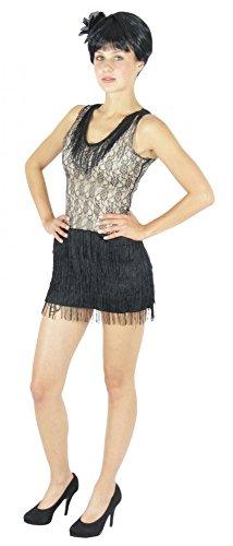 Foxxeo 40127 | 20er Jahre Kostüm Kleid Charleston Fasching Mafiakostüm , (Kostüm Mafia Mädchen)