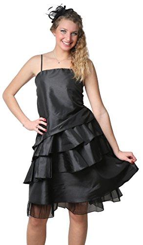 ROBLORA vestito da cerimonia matrimonio, Vestito da sera, motivo: Cocktail damigella D'onore JKCOURT Nero - Nero