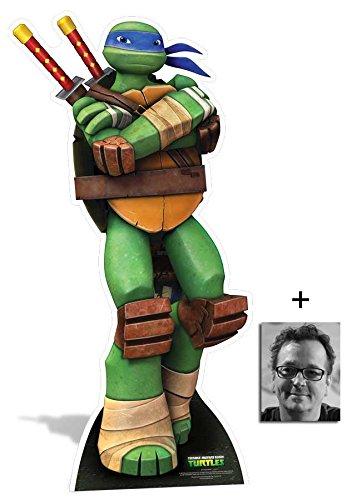 Leonardo Teenage Mutant Ninja Turtles Lebensgrosse Pappfiguren / Stehplatzinhaber / Aufsteller - Nickelodeon Series - Enthält 8X10 (25X20Cm) starfoto - Pack Turtle Party Ninja