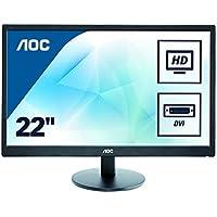 AOC 21.5 inch LED Monitor, DVI, VGA, Vesa E2270SWDN , Black , E2270SWDN