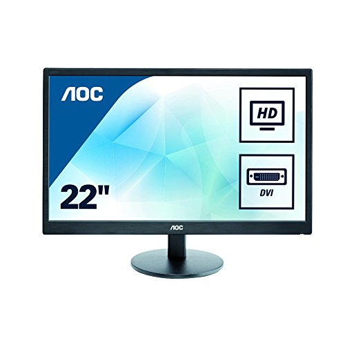 AOC 21.5 inch LED Monitor, DVI, VGA, Vesa E2270SWDN UK