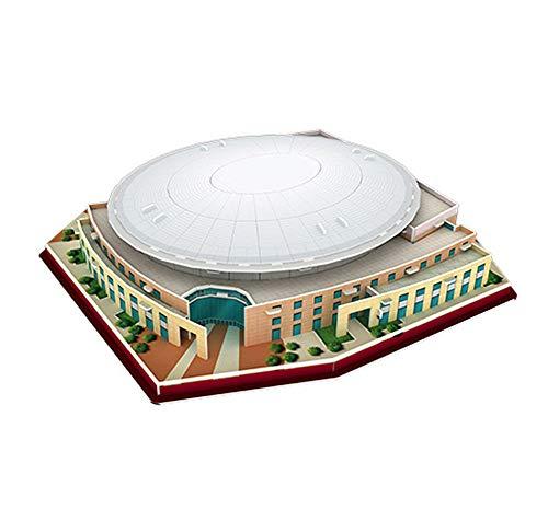 EP-model 3D-Sportstadion-Modell, Houston Rockets Startseite Toyota Center Basketball Court Puzzle, Fan Souvenir Kinderspielzeug (47Pcs, 10,2