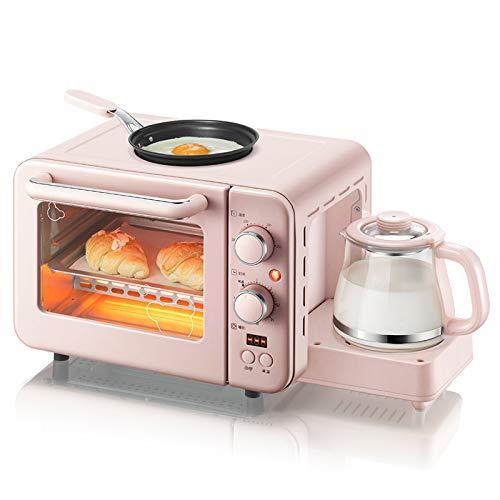 LKW Multifunktions 3 in 1mini Elektroherd Kaffeemaschine, 8L Frühstück Maschine Toaster Eier - Beleuchtung Pizzaofen