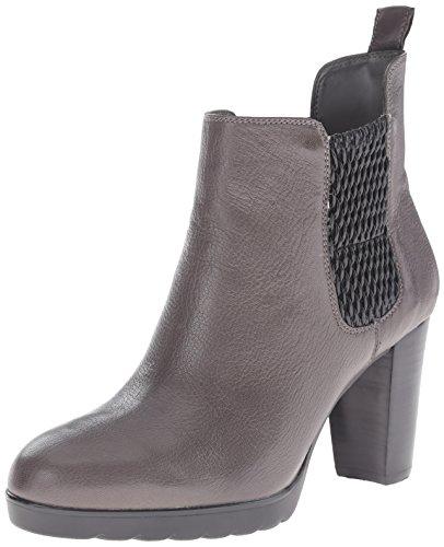 Bella Vita Zana Damen Rund Leder Mode-Stiefeletten Grey / Black Gore