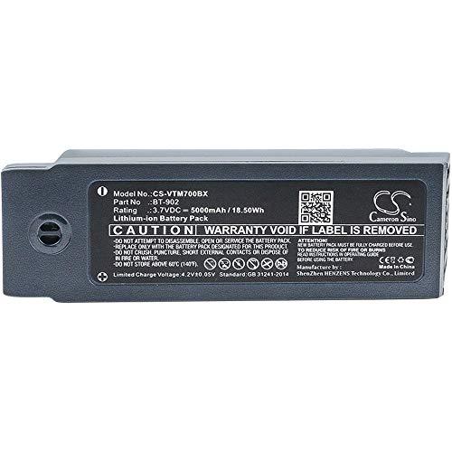 Ghpter-bar Barcode, Scanner-Batterie Li-Ion-Barcode-Scanner-Batterie des 5000mAh / 18.50Wh 3,7V kompatibel für Vocollect passt Modell A700 / A710 / A720 wiederaufladbare Zellen A710 Batterie