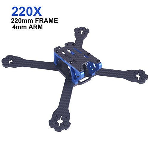 DroneAcc 220mm FPV Racing RC Drone Frame Kit 3mm Arm Carbon Fiber for Brushless Motor 2205-2306