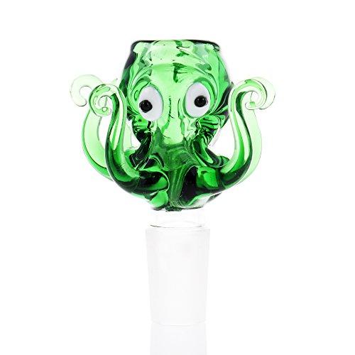 Kopf Metall Maske (UUYSU Glas Bong Kopf 14 5 Bong Kopf für öl Glas Bongs Filter Wasserpfeife Grün Adapter)