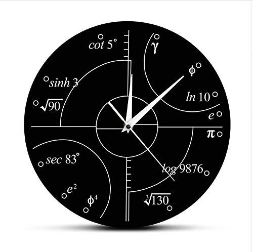 Menddy Erweiterte Mathematik Irrationale Zahlen Wanduhr Wissenschaft Mathematische Wandkunst Moderne Uhr Wanduhr Klassenzimmer Dekor Lehrer Geschenk 30x30cm