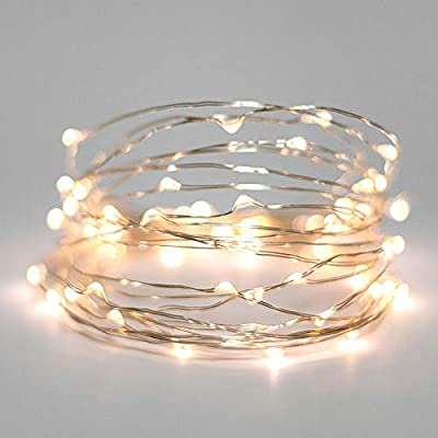 Christmas Lights, Fairy Lights 100 LED Warm White Indoor and Outdoor use