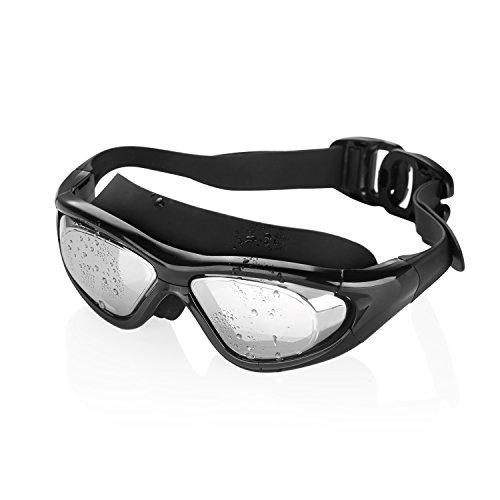 GVDV Schwimmbrille mit Antibeschlag + 100% UV Schutz + Aufbewahrungsbox für Erwachsene