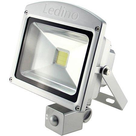 Ledino LED-Flutlichtstrahler, HF-Sensor, 20 Watt Epistar-LED, silber Kaltweiß