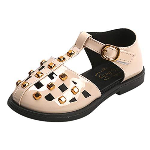 YUAN Baby Schuhe  Sommer Kinder Mädchen Casual Sandalen Nieten Flache Kinderschuhe -