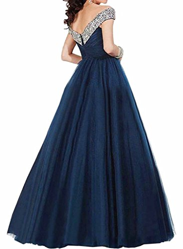 Promgirl House Damen Glamour Prinzessin A-Linie Abendkleider Ballkleider Tanzenkleider Festkleider Lang Orange