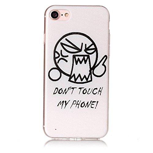 """Coque pour Apple iPhone 7 , IJIA Transparent Chat Papillon TPU Doux Silicone Bumper Case Cover Shell Housse Etui pour Apple iPhone 7 (4.7"""") HX48"""