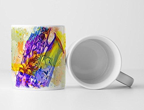Saxophon Tasse als Geschenk, Design Sinus Art