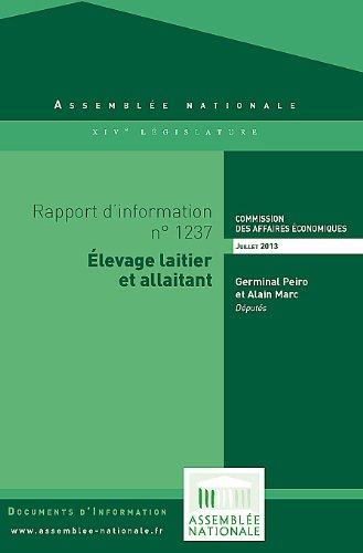 Rapport d'information « Élevage laitier et allaitant» por Assemblée nationale