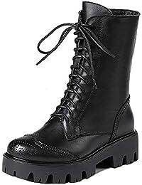 Mujeres Martin Boots Lace Up Zip Booties Plataforma Chunky Herramientas Locomotora Biker Militar Boots Bullock Shoes