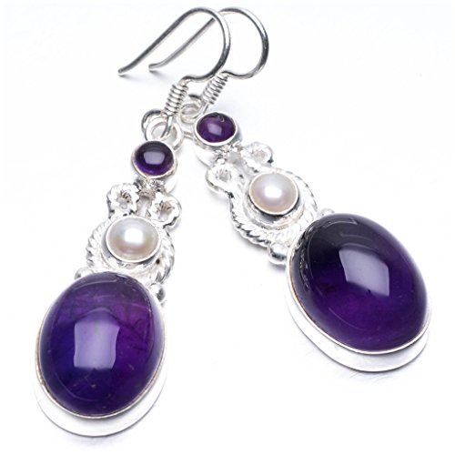 stargemstm-natural-amethyst-and-river-pearl-unique-punk-style-925-sterling-silver-earrings-2