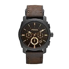 Idea Regalo - Fossil Orologio Cronografo Quarzo Uomo con Cinturino in Pelle FS4656